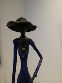 Femme Bleu au chapeau