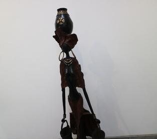 Femme rouge africaine porteuse d'eau
