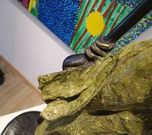 Grande femme verte africaine